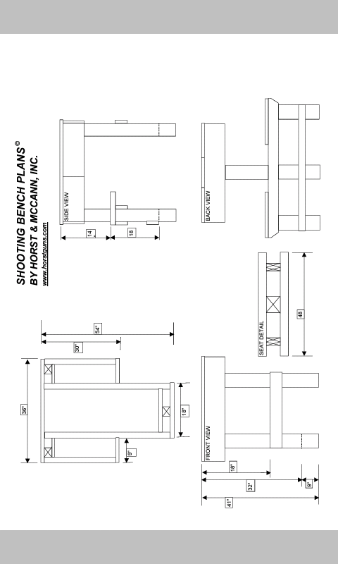 Shooting Bench Plans Pdf 28 Images Plans For A
